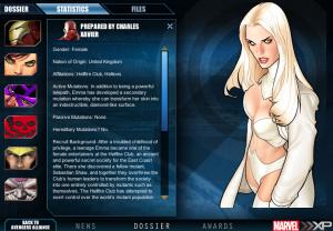 Marvel XP: Emma Frost Dossiere Bio