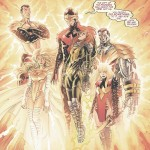 The Phoenix Five: Emma Frost, Cyclops, Namor, Colossus, Magick