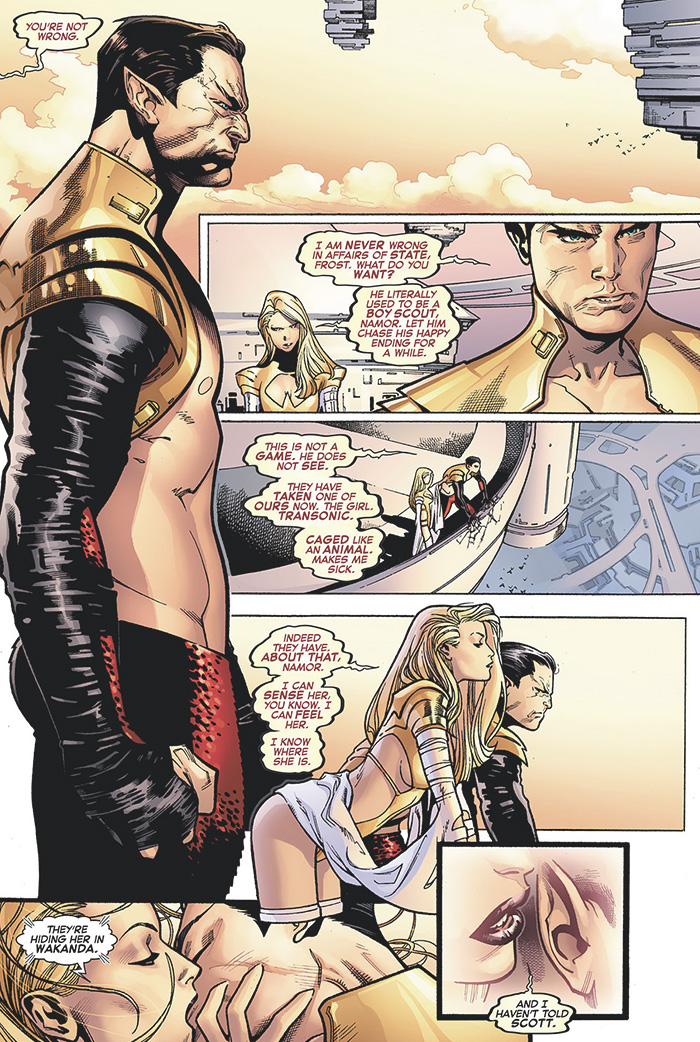 Avengers vs X-Men #7: Emma Frost and Namor