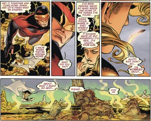 Emma Frost and Cyclops in Avengers vs X-Men #9