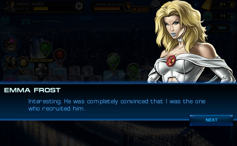 Emma Frost: Blob mission dialogue, 01