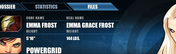 Avengers Alliance Emma Frost dossiere