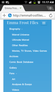 Emma Frost Files mobile