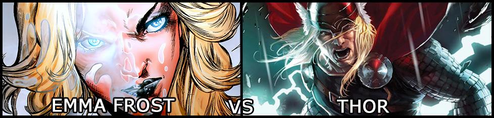 Emma Frost vs Thor