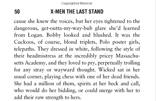 X-Men: The Last Stand novel