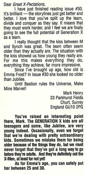 emma frost age generation x #34