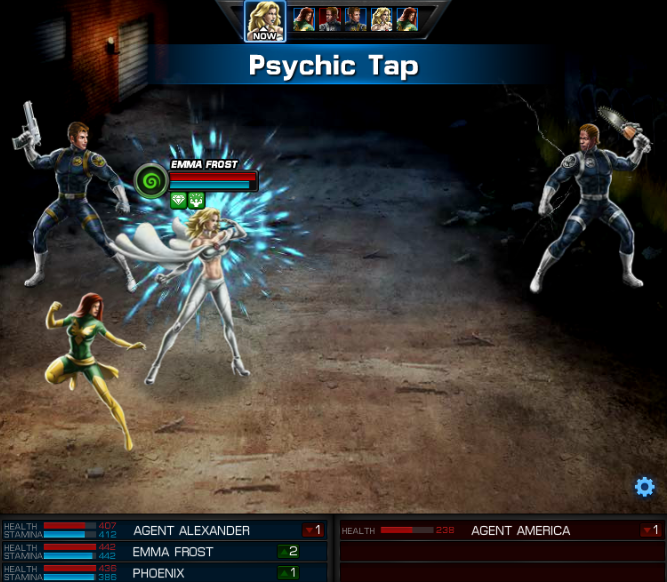 Emma Frost, Avengers Alliance: Psychic Tap