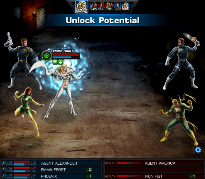 Emma Frost, Avengers Alliance: Unlock Potential