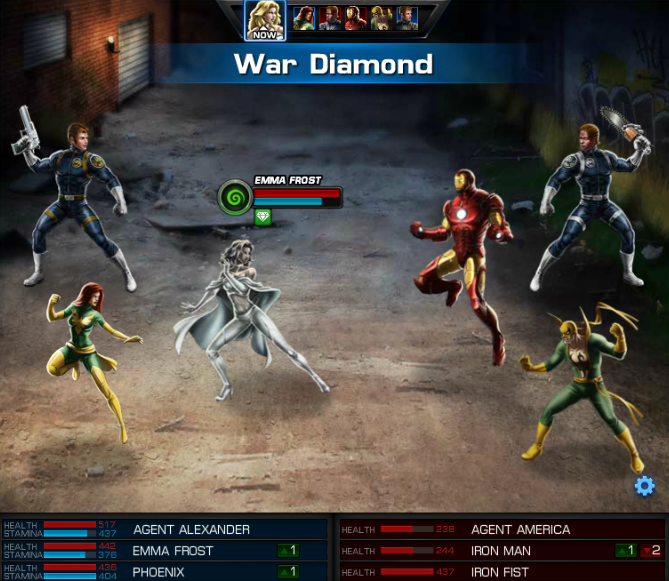 Emma Frost, Avengers Alliance: War Diamond