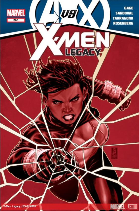 Unrevealed X-Men: Legacy 268 cover