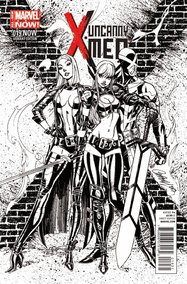 Uncanny X-Men v3 #19 (J. Scott Campbell B&W Variant)