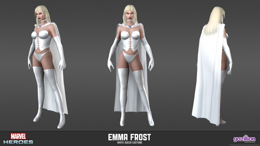 White Queen costume, Emma Frost from Marvel Heroes