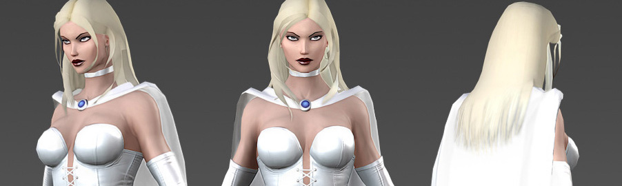 Marvel Heroes Emma Frost Model Sheet, White Queen version
