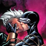 Cyclops and Storm KISSING in 'Astonishing X-Men' #44