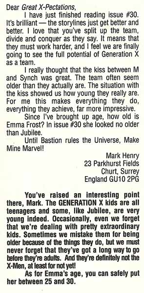 emma frost age generation x #34