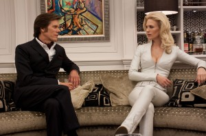 "Sebastian Shaw (Kevin Bacon) and Emma Frost (January Jones) in ""X-Men: First Class."" Credits: 20th Century Fox"