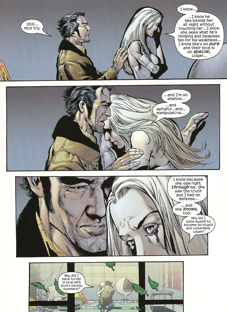 Emma Frost And Wolverine Kiss