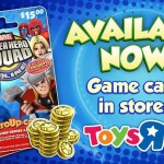 Super Hero Squad Online game cards available at Toys 'R Us