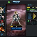 Modern Emma Frost in Avengers Alliance stats
